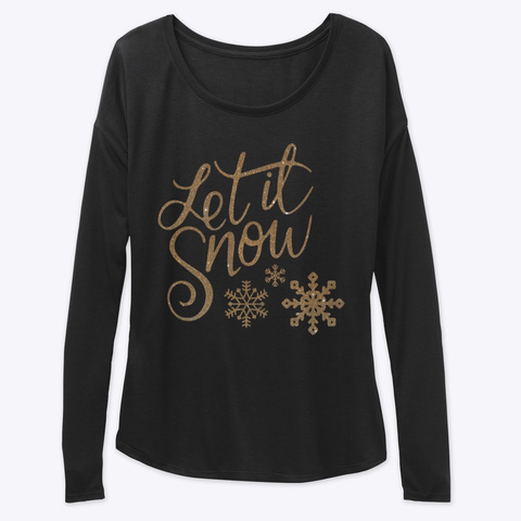 Let It Snow Collection Black Long Sleeve T-Shirt Front