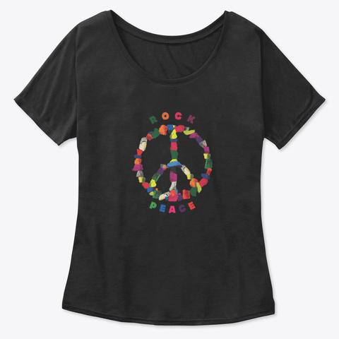 Rock Peace Women's Shirt Black T-Shirt Front