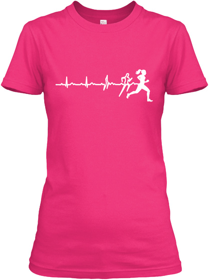 I Run To Feel Free And Feel Strong! (F) Heliconia Women's T-Shirt Front