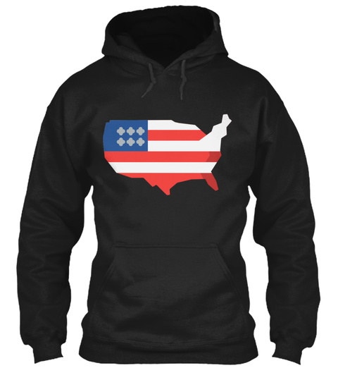 Independence Day Usa Black Sweatshirt Front