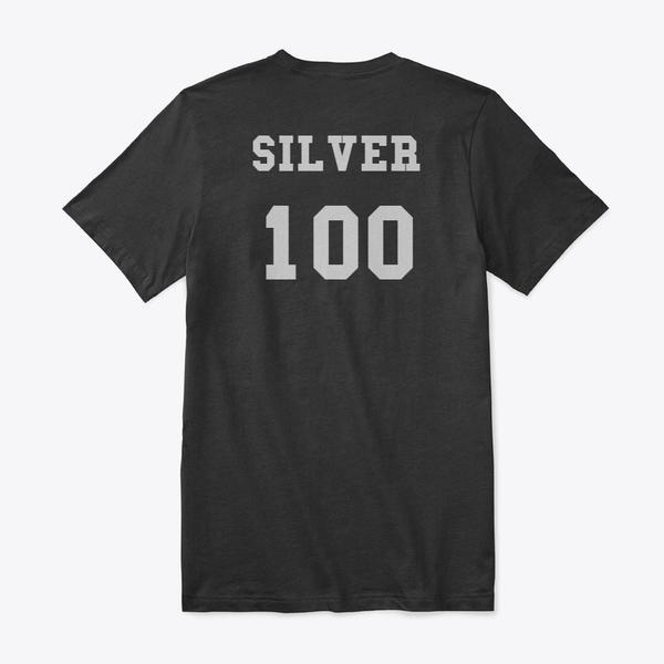 Silver 100 Premium V-Neck Tee