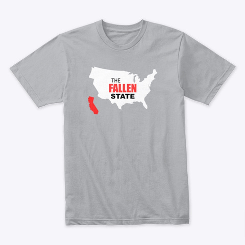 California Fallen State Tee! Heather Grey T-Shirt Front