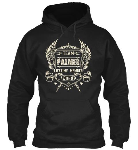 Team Palmer Lifetime Member Legend Black T-Shirt Front