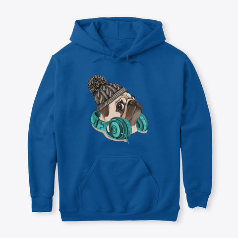 Pug And Funny Royal T-Shirt Front