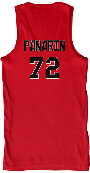 Panarin 72 Red T-Shirt Back