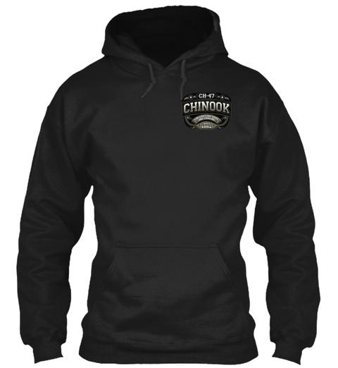 Ch 47 Chinook 5 Million Flight Hours.... Black T-Shirt Front