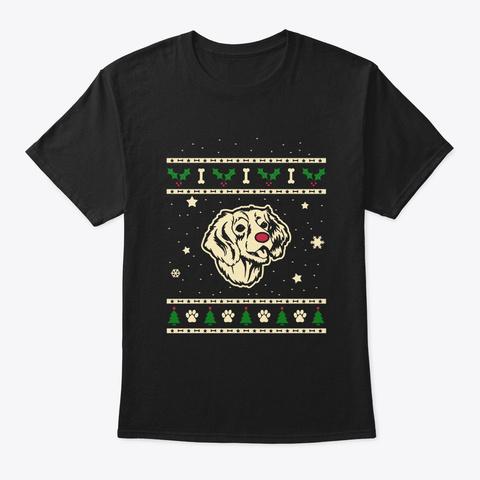 Christmas English Springer Spaniel Gift Black T-Shirt Front