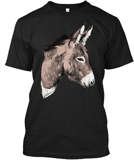 Donkey Art Black T-Shirt Front