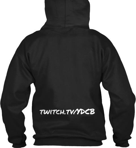 Twitch.Tv/Ydcb Black T-Shirt Back