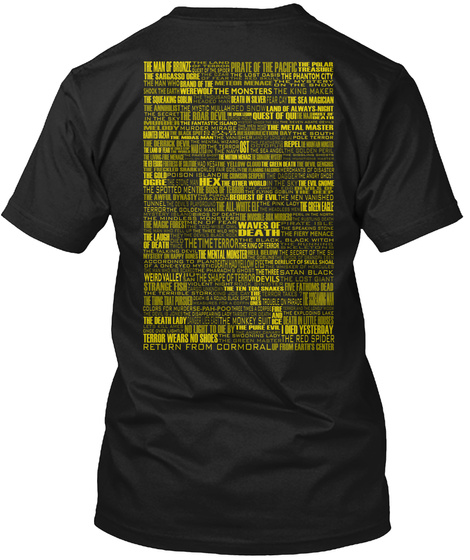 Waves Of Death Pirate Of The Pacific I Died Yesterday The Shape Of Terror Black T-Shirt Back