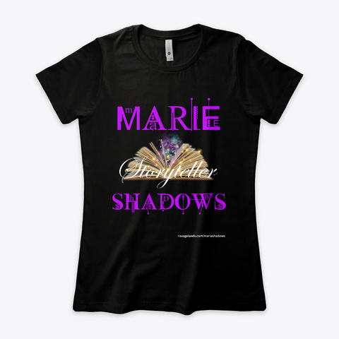 Marie Shadows   Writer/Wrestler Trainee Black T-Shirt Front