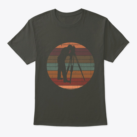 Survey Vintage Retro For Land Surveyor Smoke Gray T-Shirt Front