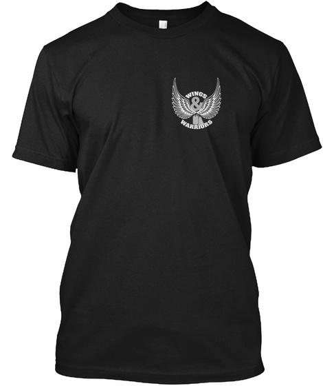 Wings Warriors Black T-Shirt Front