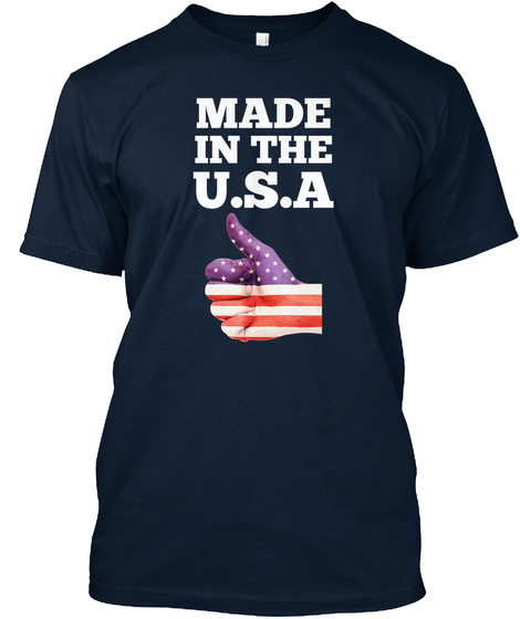 Made In The Usa New Navy T-Shirt Front