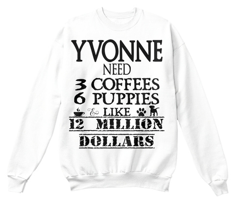 Yvonne White T-Shirt Front