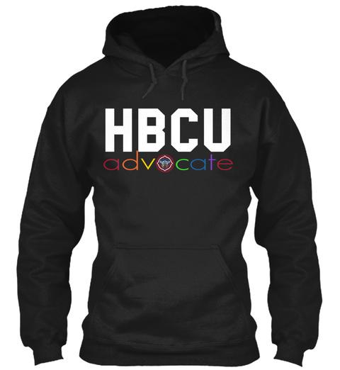 Hbcu Advocate Black Sweatshirt Front
