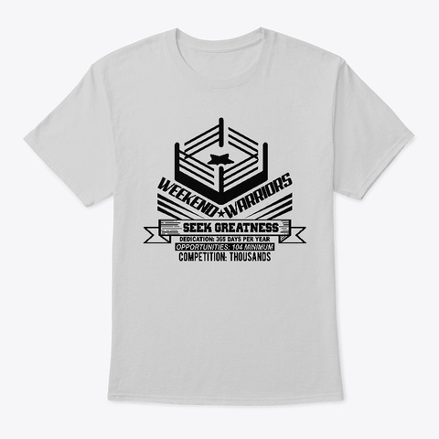 Seek Greatness Light Steel T-Shirt Front