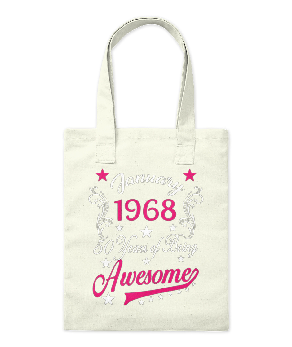 Queens Are Born In 1968 Birthday Tote Bag Funny Gift 50th Fifty Shopper