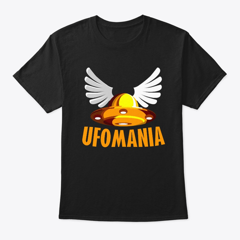 Ufomania Merch Black T-Shirt Front