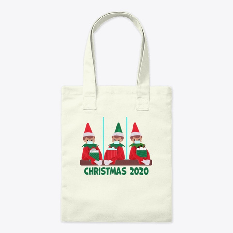 Christmas 2020   Coronavirus Elfs Elves Natural T-Shirt Front