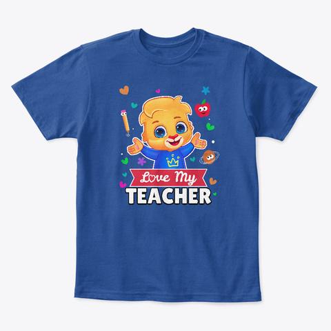 Lucas Loves His Teacher Deep Royal  T-Shirt Front