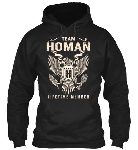 Team Homan Lifetime Member Black T-Shirt Front