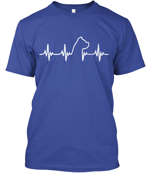 Limited Edition   Cane Corso Heart Deep Royal T-Shirt Front