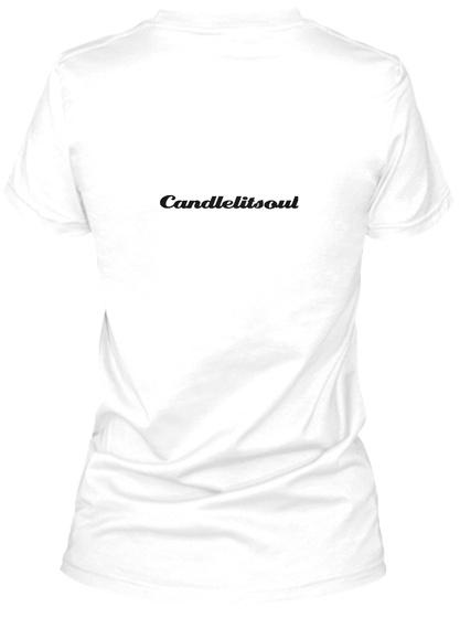 Candlelitsoul White T-Shirt Back