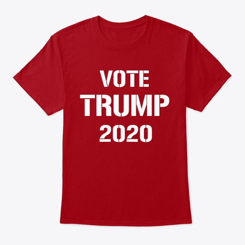 Vote Trump 2020 Deep Red T-Shirt Front