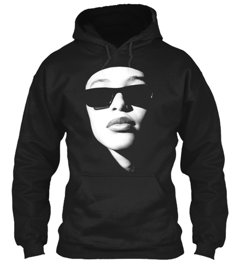 Aaliyah Fans Art Black T-Shirt Front