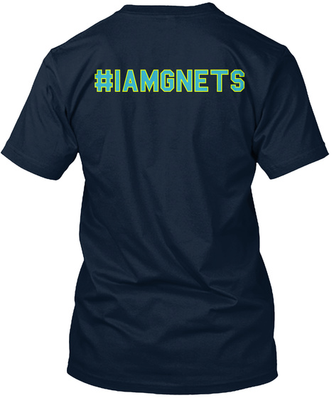 #Iamgnets New Navy T-Shirt Back