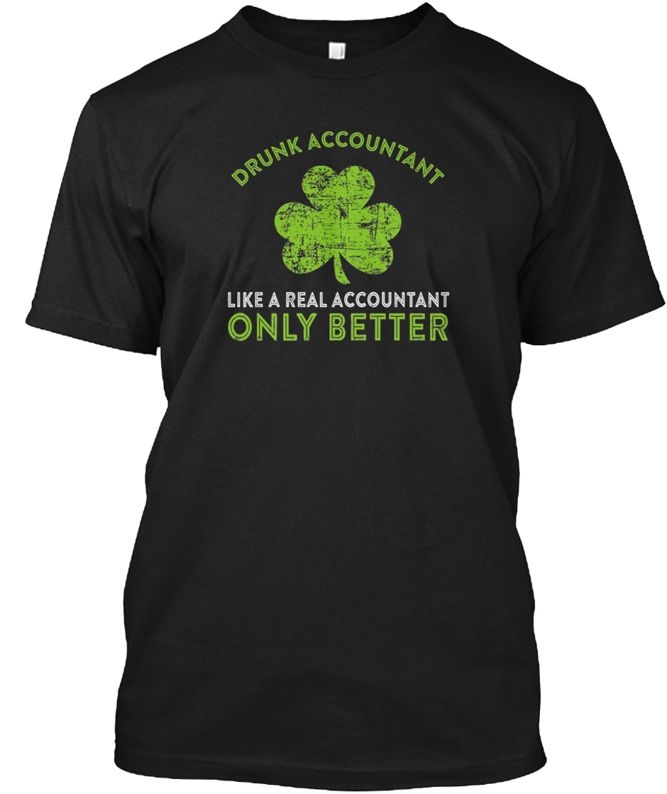 Costume For Patricks Day. Accountant Tee