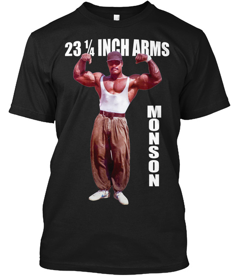 Craig Monson 23 1/4 Inch Arms T Shirt Black T-Shirt Front