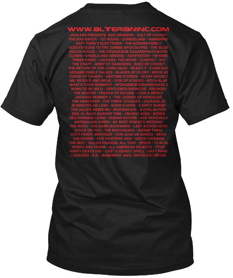 Www.Alterianinc.Com Black T-Shirt Back