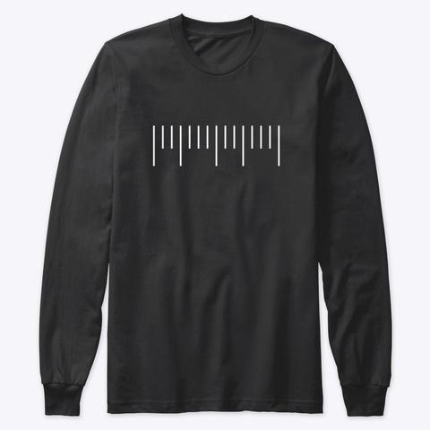 Long Sleeve Tee: Neat Keys Black T-Shirt Front