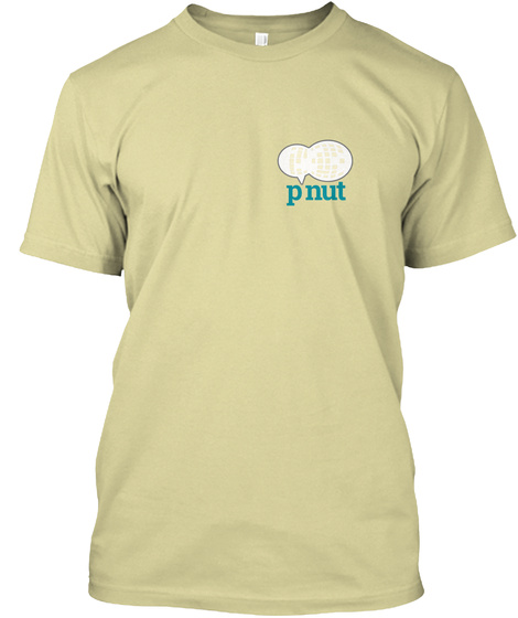 The Original Pnut.Io Shirt Sand T-Shirt Front