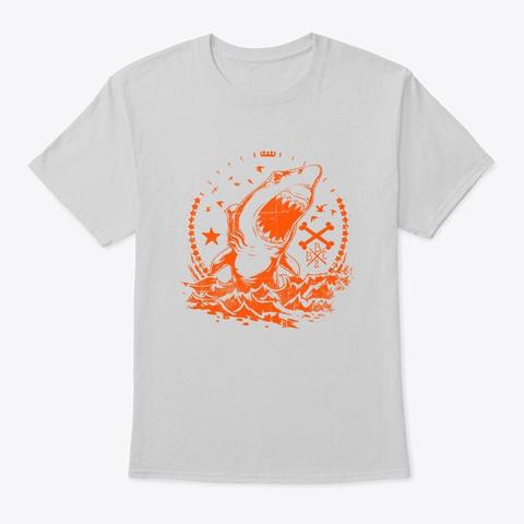 Super Killer Shark   Awesome Shark Lover Light Steel T-Shirt Front