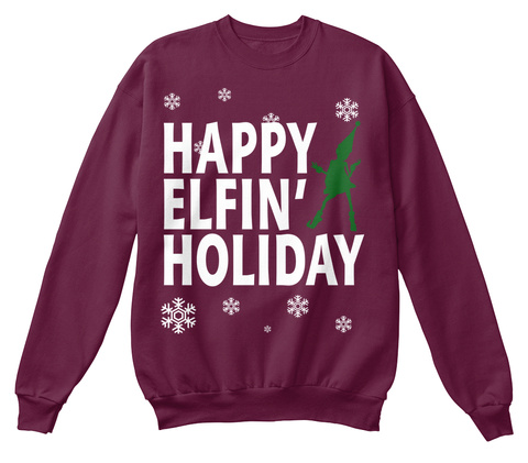 Ariana Grand Sweater Happy Elfin' - happy elfin' Holiday Products ...
