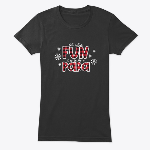 Christmas Para Oh What Fun It Is Vintage Black T-Shirt Front
