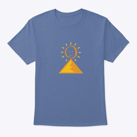 Rising Higher Meditation Men's Shirt  Denim Blue T-Shirt Front