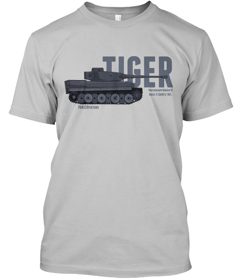 Tiger Panzer Picture Sport Grey T-Shirt Front
