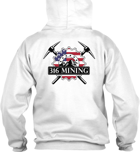 316 Mining White T-Shirt Back