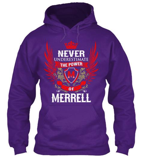 Never Underestimate The Power of Merrill Hoodie Black