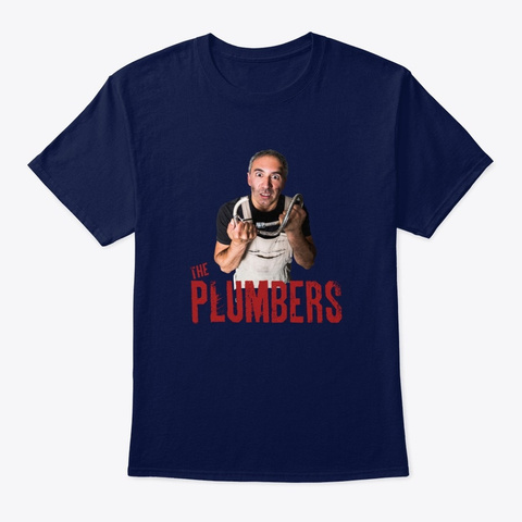The Plumbers Liam Tee Navy T-Shirt Front