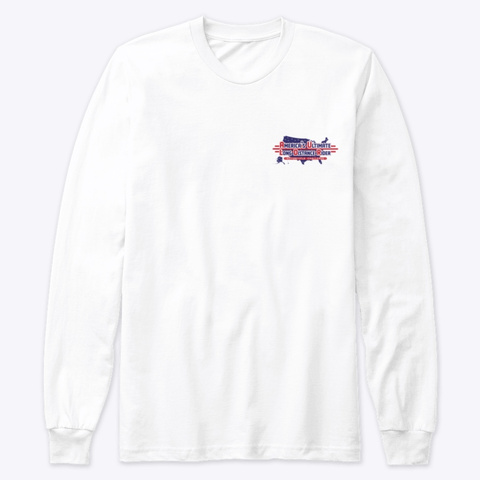Small Logo Front , Large Logo Back White T-Shirt Front