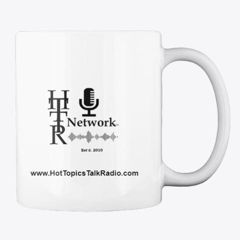 Hot Topics Talk Radio/Tv Coffee Mug White T-Shirt Back