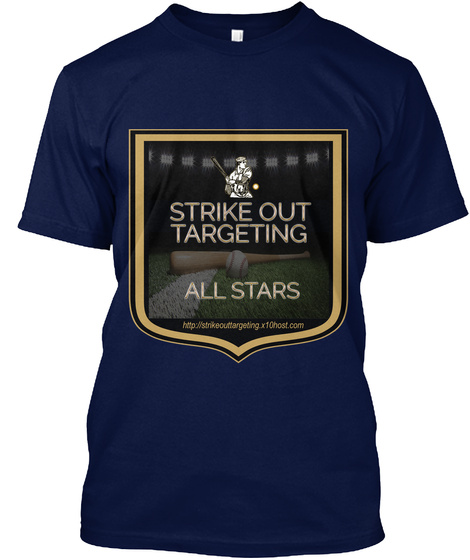 Strike Out Targeting All Stars T Shirt Navy T-Shirt Front