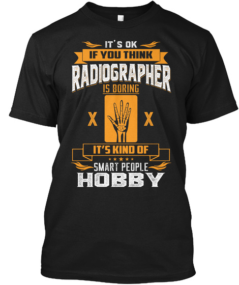 Radiographer Black T-Shirt Front