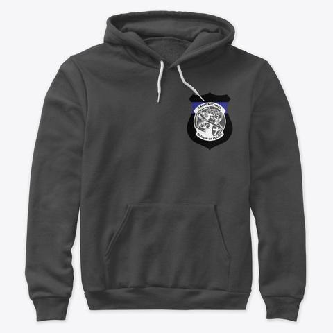St. Michael  Patron Of Police Dark Grey Heather T-Shirt Front