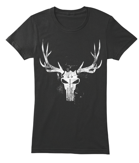 Elk Punisher Tee Black T-Shirt Front